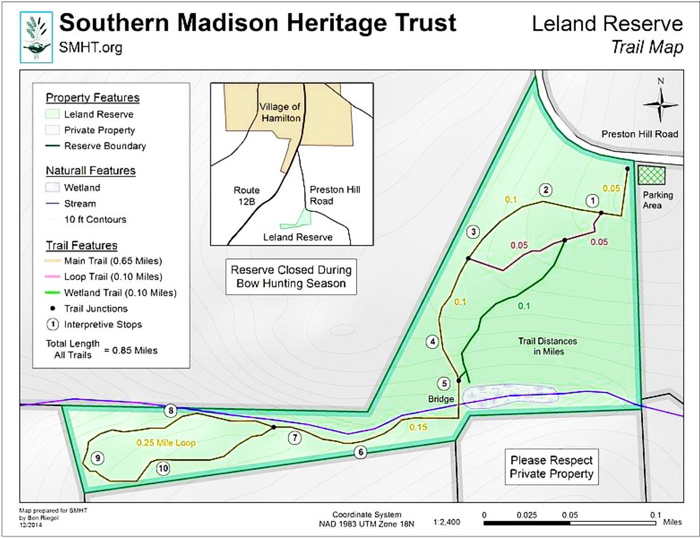 Lelands Reserve in Hamilton, NY. Site of 2021 tree walk.